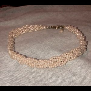 Pale pink small pearl necklace STUNNING!